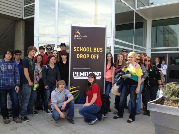 Buck Mountain Central School Students at Skills Alberta